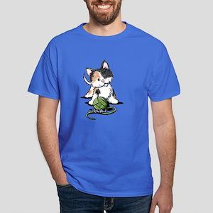 Playful Calico Kitten Dark T-Shirt
