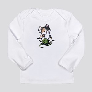 Playful Calico Kitten Long Sleeve Infant T-Shirt