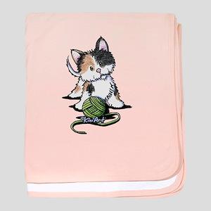 Playful Calico Kitten baby blanket