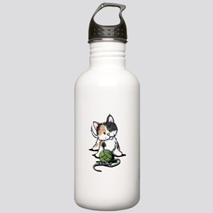 Playful Calico Kitten Stainless Water Bottle 1.0L