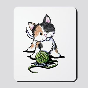 Playful Calico Kitten Mousepad