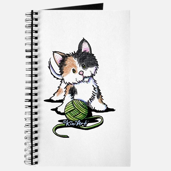 Playful Calico Kitten Journal