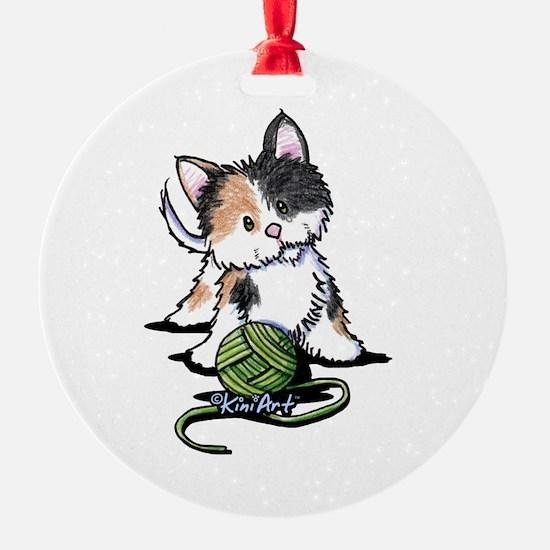 Playful Calico Kitten Ornament