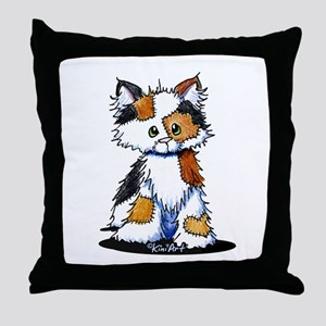 Calico Patches Throw Pillow