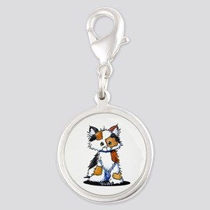 Calico Patches Silver Round Charm