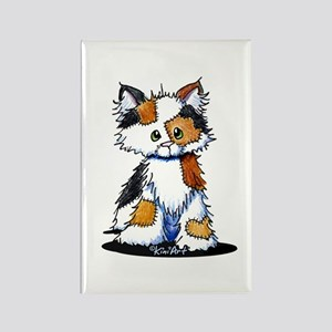Calico Patches Rectangle Magnet