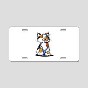 Calico Patches Aluminum License Plate