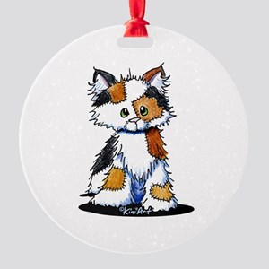 Calico Patches Round Ornament