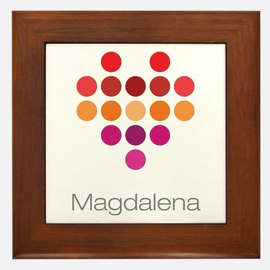 I Heart Magdalena Framed Tile