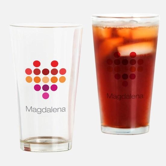 I Heart Magdalena Drinking Glass