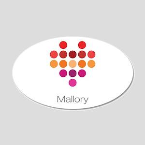 I Heart Mallory Wall Decal