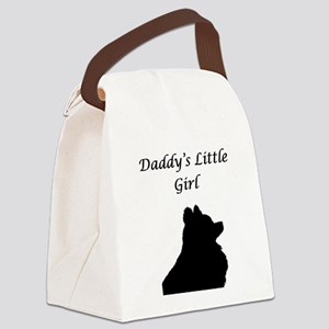 Daddys LIttle Girl Silhouette Canvas Lunch Bag