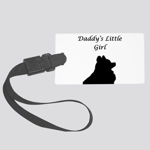 Daddys LIttle Girl Silhouette Luggage Tag
