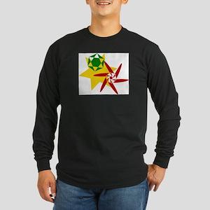 Rastafarian Colors Long Sleeve T-Shirt