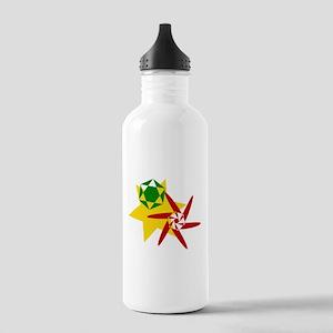 Rastafarian Colors Water Bottle