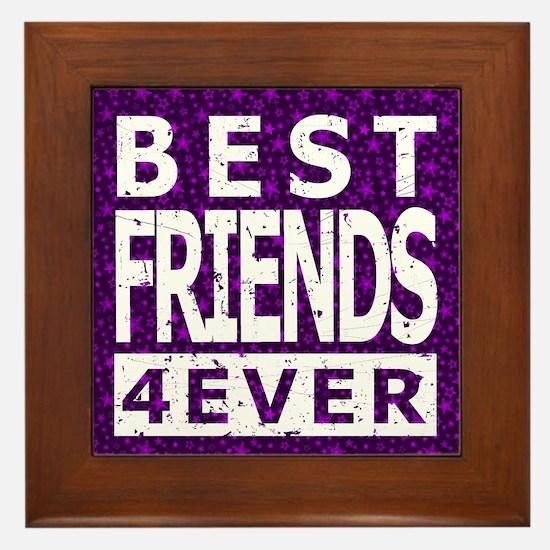 Best Friends 4 Ever Framed Tile