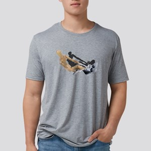 Tying Shoes Mens Tri-blend T-Shirt