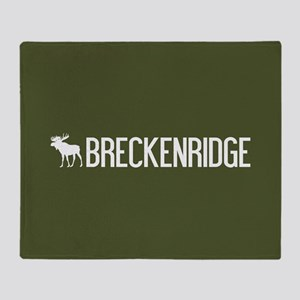 Breckenridge Moose Throw Blanket