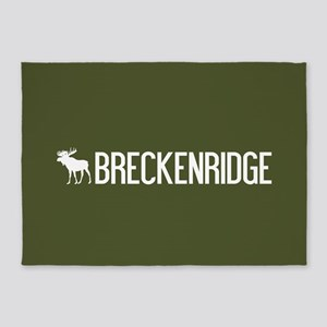 Breckenridge Moose 5'x7'Area Rug