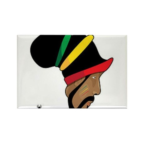 Rastafarian Rectangle Magnet