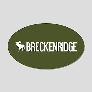 Breckenridge Moose 20x12 Oval Wall Decal