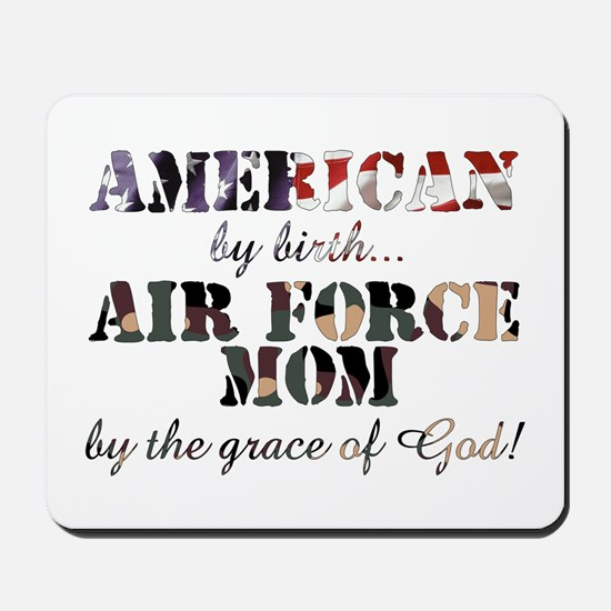 AF Mom by grace of God Mousepad