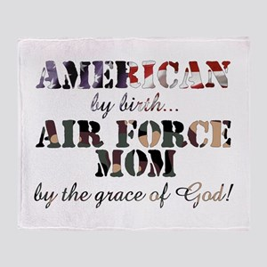 AF Mom by grace of God Throw Blanket