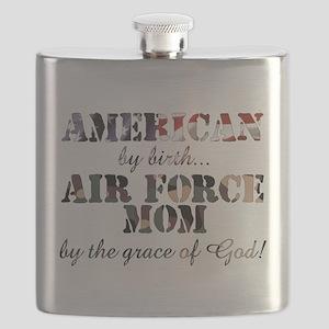 AF Mom by grace of God Flask