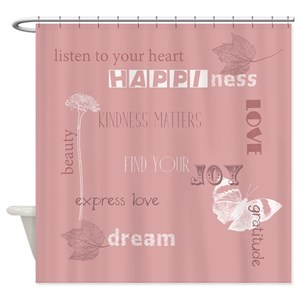 Inspirational Words Shower Curtains