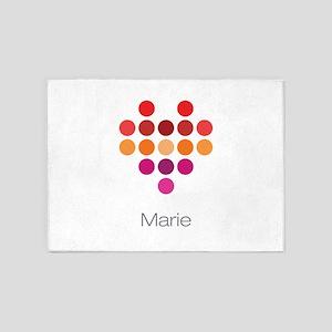 I Heart Marie 5'x7'Area Rug