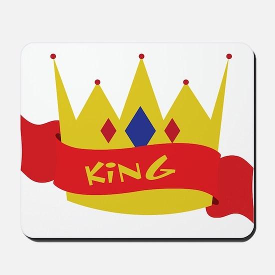 King Crown Ribbon Mousepad