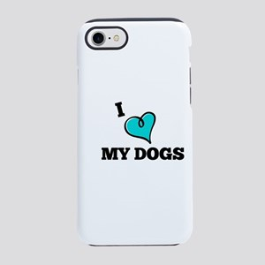 I Love My Dog iPhone 7 Tough Case