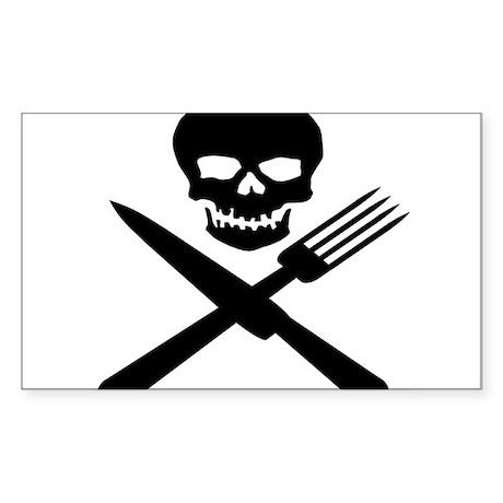 skullandknifefork Sticker