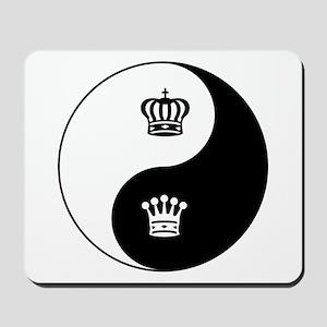 King-Queen yin yang Mousepad