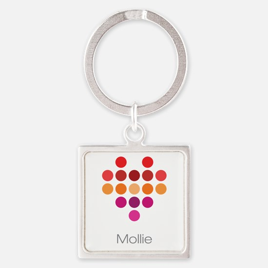 I Heart Mollie Square Keychain