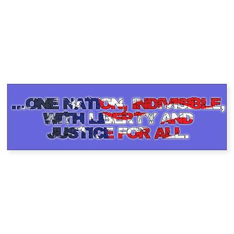 One Nation Sticker (Bumper)
