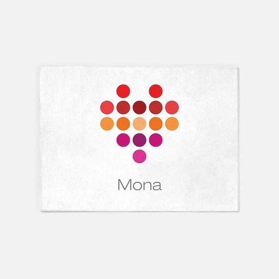 I Heart Mona 5'x7'Area Rug