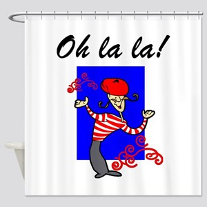 Oh La La French Shower Curtain