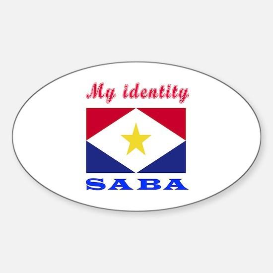 My Identity Saba Sticker (Oval)