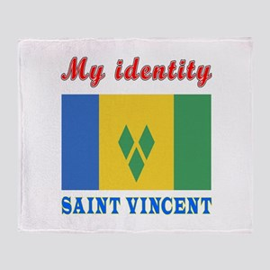 My Identity Saint Vincent Throw Blanket