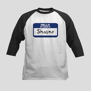Hello: Shayne Kids Baseball Jersey