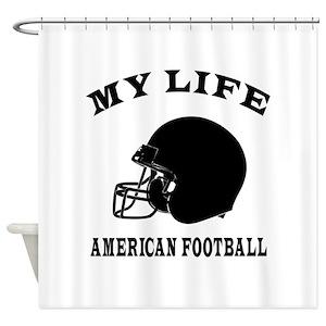 American Football Boy Shower Curtains