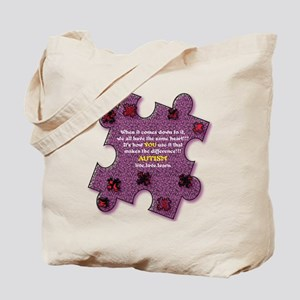 Autism Have A Heart Tote Bag