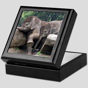 Playful Elephants Keepsake Box
