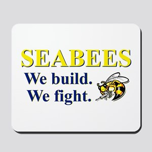 SEABEES WE BUILD WE FIGHT Mousepad