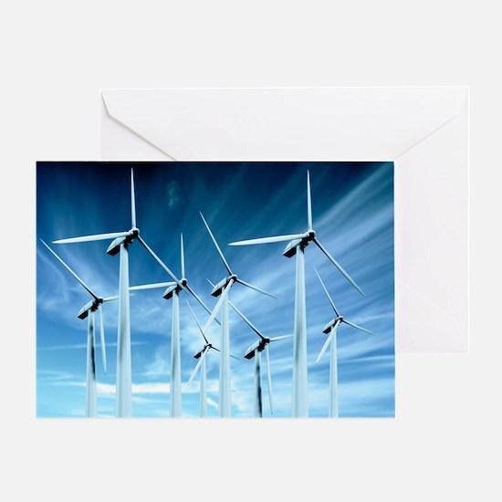 Greeting Card - Wind turbines