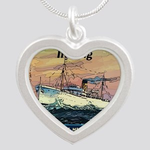 Apprentice Seaman Training Silver Heart Necklace