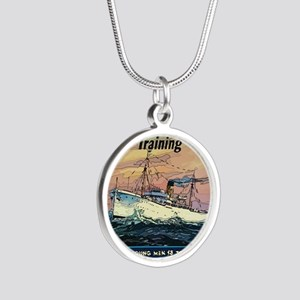 Apprentice Seaman Training Silver Round Necklace