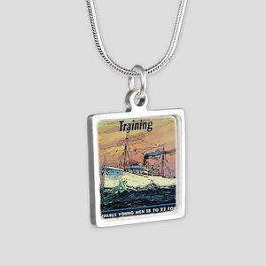 Apprentice Seaman Training Silver Square Necklace