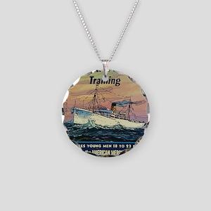Apprentice Seaman Training Necklace Circle Charm